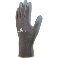Gants de manutention tricot polyester/pu gris 10
