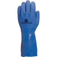 Gants de manutention pvc/coton pétrolier 9