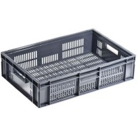 Bacs gerbable norme europe gris 28 litres 600x400x150mm,