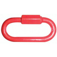 Maillon rapide rouge diamètre 6mm