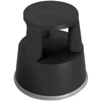 Marchepied mobile polypropylene noir - 2 marches,