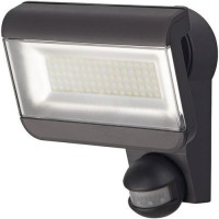 Projecteur led ip44 80x0.5w 3700lm anthracite + détecteur,