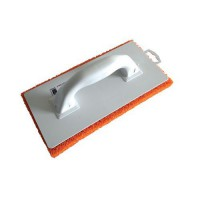 Frottoir monobloc spongieux orange 14x29cm,