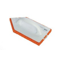 Frottoir plastique pointu spongieux orange 14x27,