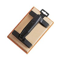 Frottoir bois spongieux orange 13x20cm,