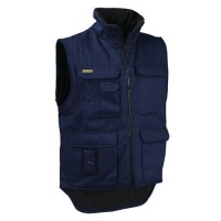 Gilet sans manches hiver marine taille s