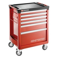 Servante chrono 6 tiroirs 3 modules rouge,