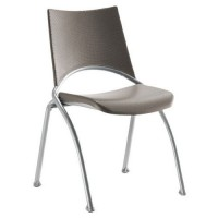 Chaise alinéa assise dos. poly. pièt. gris alu. taupe/taupe,