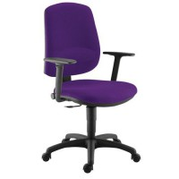 Faut.kiwi contact permanent accoudoir reglable 500 aubergine,