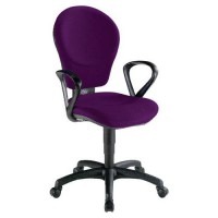 Fauteuil kim classic contact synchrone 500 aubergine,