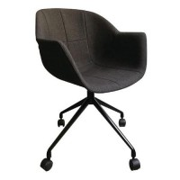 Chaises gant pied noir assise anthracite