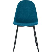 Chaises must pied noir assise bleue - paperflow