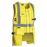 Gilet porte-outils multinormes jaune fluorescent taille l