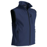 Gilet sans manche softshell marine taille l