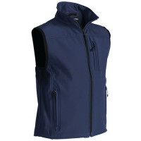 Gilet sans manche softshell marine taille m
