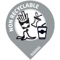 Stickers tri - non recyclable - gris clair (x10)