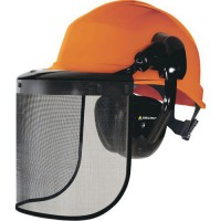 Casque de protection type forestier complet
