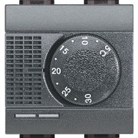 Thermostat d'ambiance Électrique 2 modules anthracite