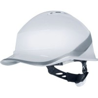 Casque de protection de chantier diamond vi wind - blanc