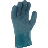Gants de manutention de protection À double induction pvc vert taille 10