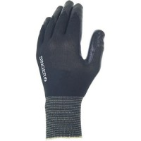 Gants de manutention en nylon À enduction nitrile noir taille 10