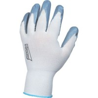 Gants de manutention aéré À enduction nitrile support polyester de taille 7
