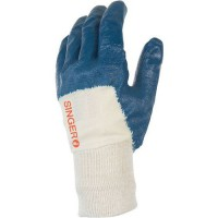 Gants de manutention nitrile light de couleur bleu de taille 10