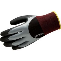 Gants de manutention de protection en double couche de nitrile jauge 18
