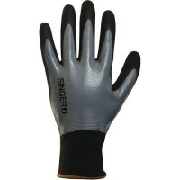 Gants de manutention de protection nylon jauge 15 double enduction nitrile