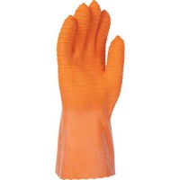 Gants de manutention latex orange sur support interlock de taille 10