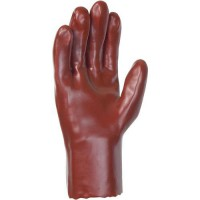 Gants de manutention À simple enduction en pvc rouge taille 10