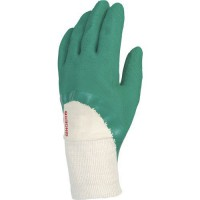 Gants de manutention latex vert sur support interlock de taille 10