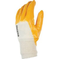 Gants de manutention nitrile ultra light de couleur jaune en taille 10