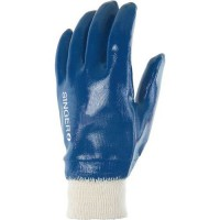 Gants de manutention en coton pur molleton À enduction nitrile