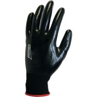 Gants de manutention sans couture noir À enduction nitrile de taille 10