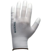 Gants de manutention tricoté blanc À enduction polyuréthane de taille 10