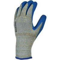 Gants de manutention tricoté en fibres avec enduction de latex taille 10