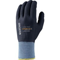 Gants de manutention en nylon tout enduction nft picots de taille 10