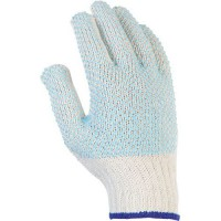 Gants de manutention tricoté avec enduction de picots pvc