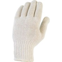 Gants de manutention tricoté en fibres avec enduction de picots pvc