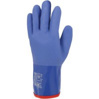 Gants de manutention de protection À triple enduction en pvc bleu taille 10