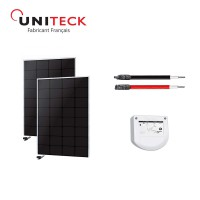 Kit solaire 100w back-contact 12v uniteck - version 2x50w