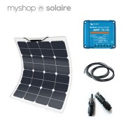 Kit solaire 50w - 12v flexible camping-car/bateau